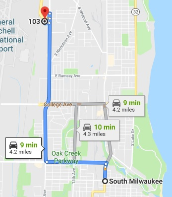Get directions from South Milwaukee to our Cudahy office